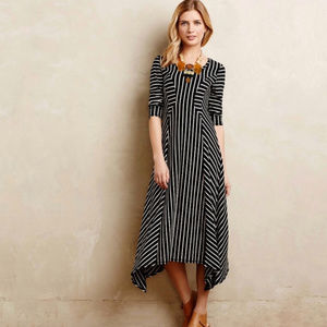 Anthropologie Saturday/Sunday Pieced Stripe Dress